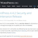 WordPress 4.4.2 セキュリティパッチ