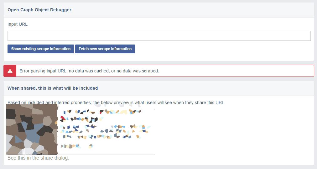 facebook OGP debugger