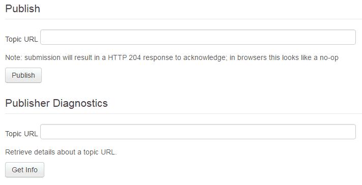 Google-PubSubHubbub-publish