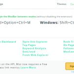 サイトランクを見るChrome拡張MozBarが会員登録必須に