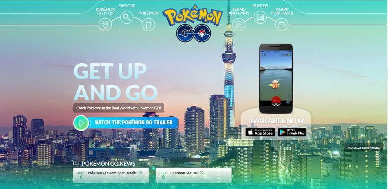 Pokemon GO アメリカサイト