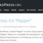 WordPress 4.6.0アップデート